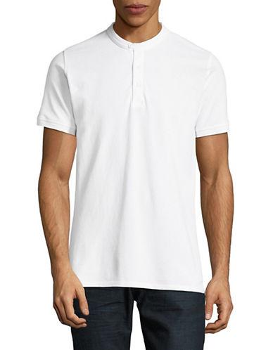 Highline Collective Banded Collar Polo-WHITE-Medium