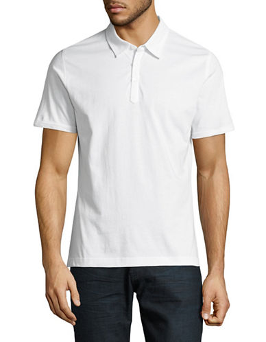 Highline Collective Solid Jersey Polo-WHITE-X-Large