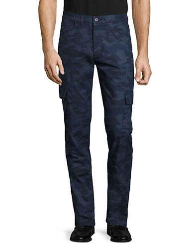 Highline Collective Fashion Stretch Cargo Pants-BLUE-36X32
