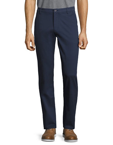 Highline Collective Stretch Twill Basic Chino Pants-BLUE-38X30