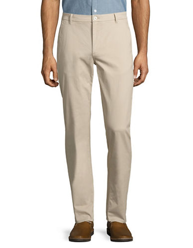 Highline Collective Stretch Twill Basic Chino Pants-BEIGE-30X30