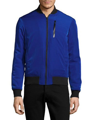 Highline Collective Fashion Bomber Jacket-BLUE-Large 89016002_BLUE_Large