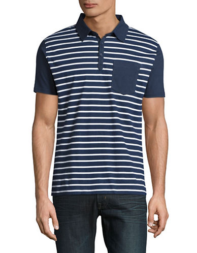 Highline Collective Striped Fancy Polo-BLUE-XX-Large