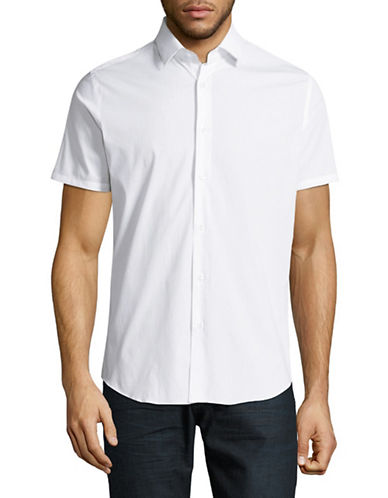 Highline Collective Technical Stretch Sport Shirt-WHITE-X-Large