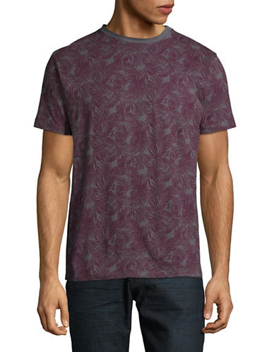 Highline Collective Palm Print T-Shirt-GREY-X-Large
