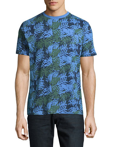 Highline Collective Palm Camo T-Shirt-GREY/BLUE-X-Large