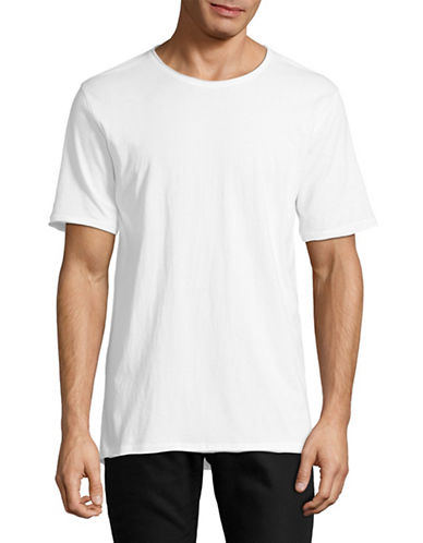 Highline Collective Solid Longline T-Shirt-WHITE-XX-Large