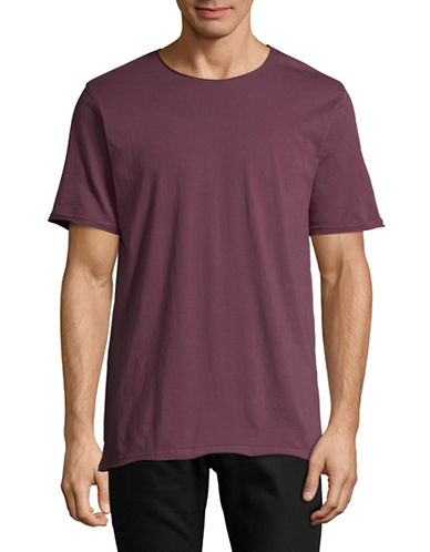 Highline Collective Solid Longline T-Shirt-PURPLE-X-Large