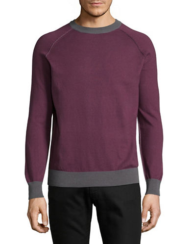 Highline Collective Raw Edge Sweater-PURPLE-Large