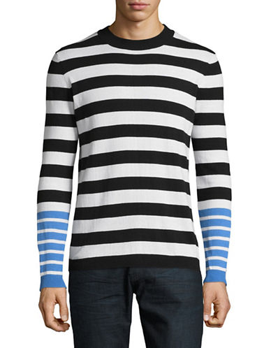 Highline Collective Contrast Stripe Sweater-BLACK-X-Large
