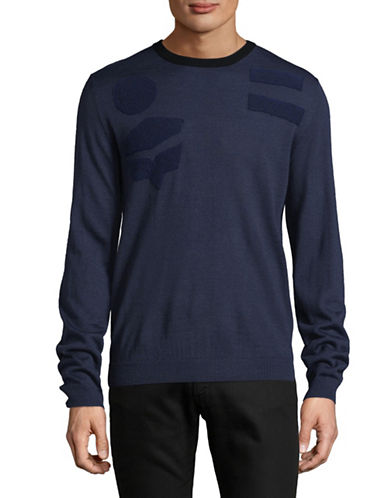 Highline Collective Wool-Blend Sweater-BLUE-Large