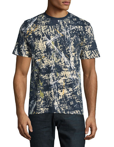 Highline Collective Abstract Graffiti Print T-Shirt-GREY-Large