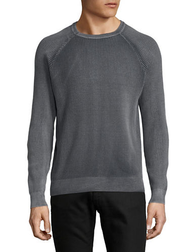 Highline Collective Ribbed Cotton Sweater-GREY-X-Large
