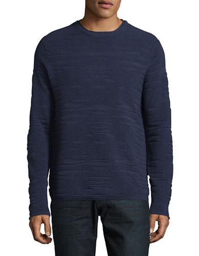 Highline Collective Long Sleeve Drop Stitch Sweater-BLUE-X-Large