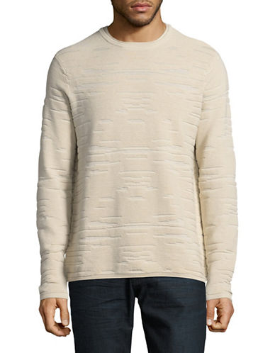 Highline Collective Long Sleeve Drop Stitch Sweater-BEIGE-X-Large