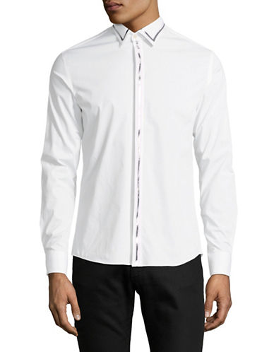 Highline Collective Metallic Tape Sportshirt-WHITE-Large