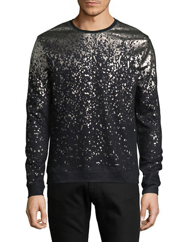 Highline Collective Foil Print Sweater-BLACK-X-Large