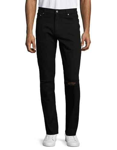 Highline Collective Knee Ripped Jeans-BLACK-38X30