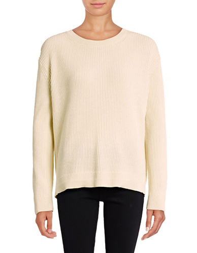 Vince Wrap-Back Cashmere-Blend Sweater-WHITE-Large