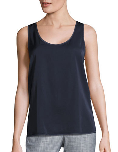 Vince Raw Edge Sleeveless Top-BLUE-Medium 88834046_BLUE_Medium