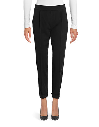 Vince Tapered Pull-On Trouser Pants-BLACK-Small 88834037_BLACK_Small