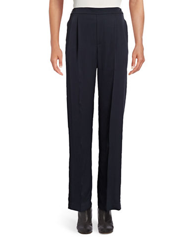 Vince Pleated Pull-On Trouser Pants-BLUE-Small 88834049_BLUE_Small