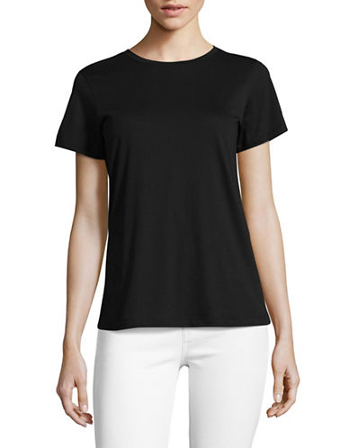 Vince Crew Neck T-Shirt-BLACK-Small