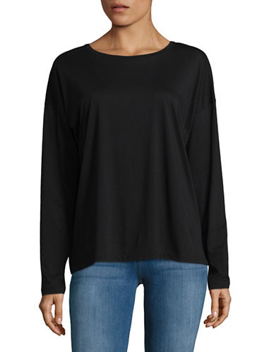 Vince Relaxed Cotton T-Shirt-BLACK-Medium 89029828_BLACK_Medium