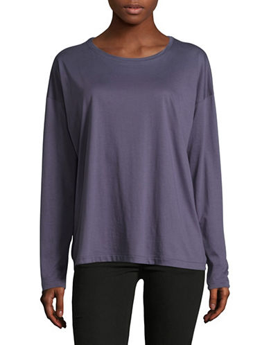 Vince Relaxed Cotton T-Shirt-PURPLE-Medium
