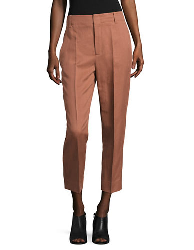 Vince Carrot Linen-Blend Trousers-COPPER-8