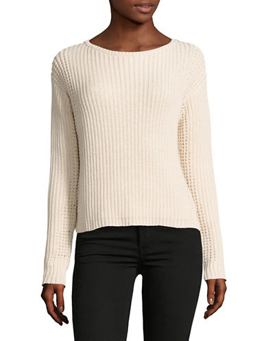 Vince Waffle Stitch Pullover-WHITE-Large 89029876_WHITE_Large
