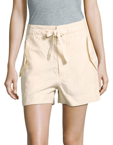 Vince Drawstring Utility Shorts-BEIGE-X-Small
