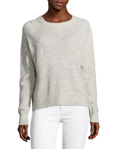 Vince Crew Cashmere-Linen Pullover-GREY-Small