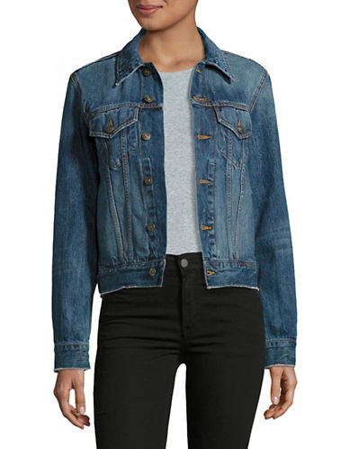 Vince Raw-Edge Denim Jacket-BLUE-Large 89124656_BLUE_Large