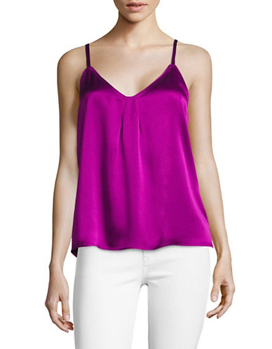 Vince Pleat Neck Silk Camisole-PINK-X-Small