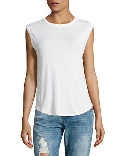 Vince Shirt Tail Tank-WHITE-X-Small 89194790_WHITE_X-Small