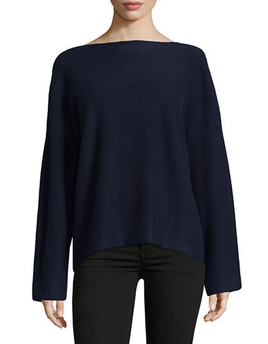 Vince Boxy Cashmere Pullover-BLUE-Small