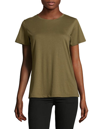 Vince Crew Neck T-Shirt-OLIVE-Large