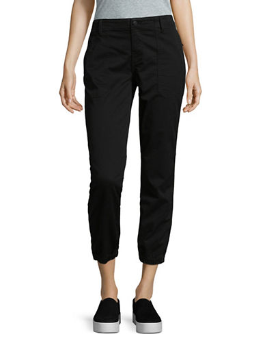 Vince Gathered Cuff Jeans-BLACK-26
