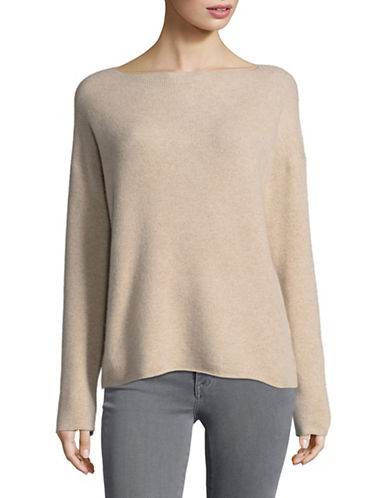 Vince Boxy Cashmere Pullover-BEIGE-Large