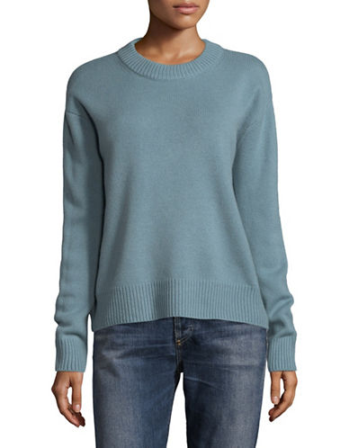 Vince Boxy Crew Cashmere Sweater-BLUE-Medium