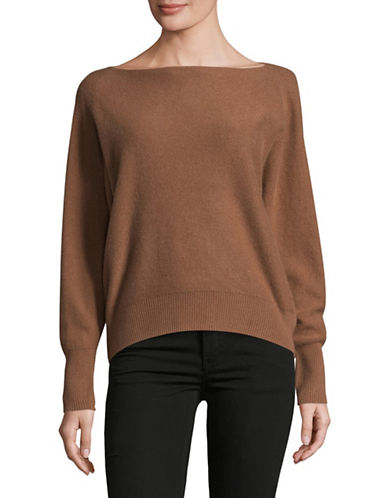 Vince Boat Neck Cashmere Sweater-ORANGE-Large