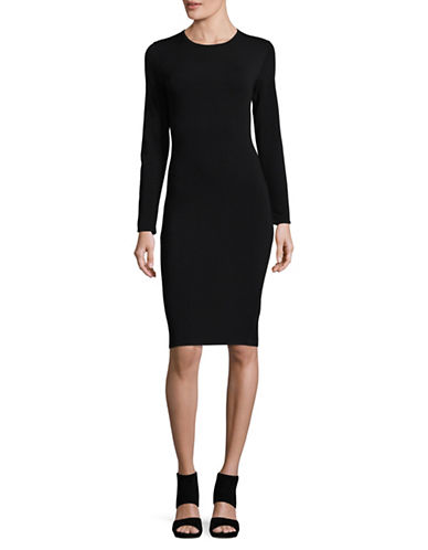 Vince Casual Bodycon Dress-BLACK-Medium