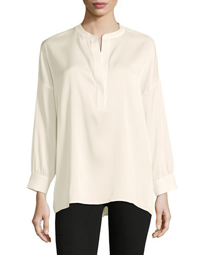 Vince Silk-Blend Blouse-IVORY-X-Small