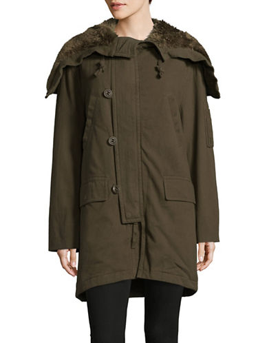Vince Military Parka-GREEN-Medium