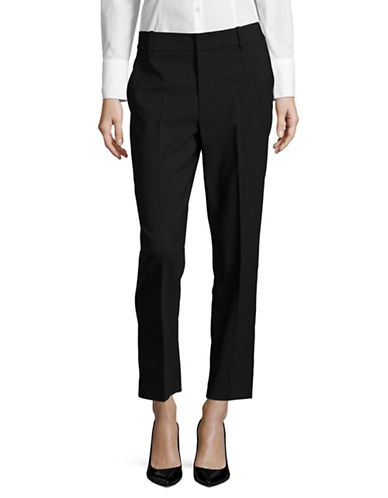 Vince Tapered Wool-Blend Trousers-BLACK-4