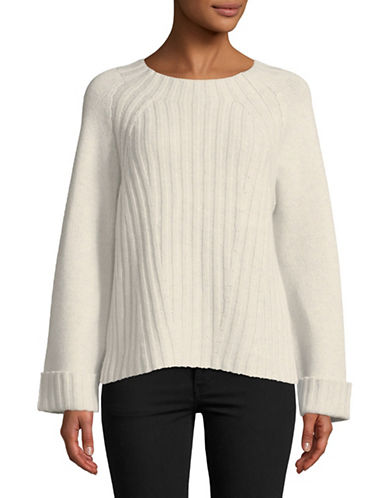 Vince Raglan Wool-Blend Sweater-WHITE-X-Small