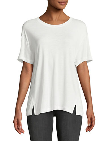 Vince Drapey Crew Neck Tee-WHITE-Small