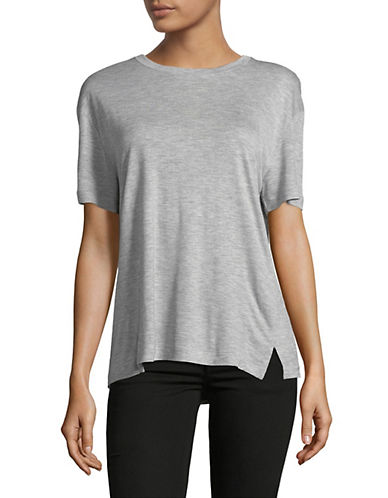 Vince Drapey Crew Neck Tee-GREY-Medium 89804609_GREY_Medium