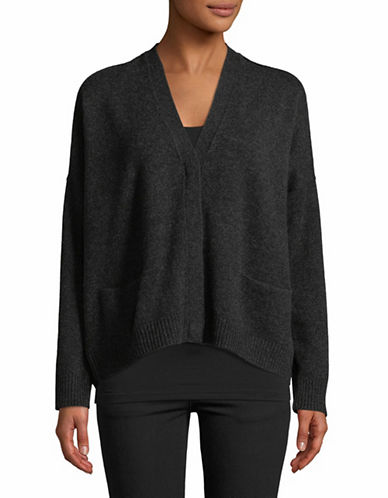 Vince Snap Cashmere Cardigan-GREY-Medium